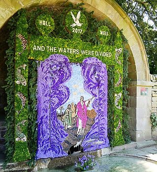 Tissington Well dressing 2017 Hall Well_
