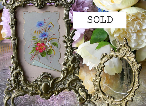 Sold *送料無料* ロマンティックなロココ調 ヴィンテージ 写真たて ペア