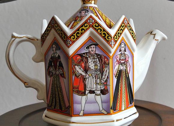 *送料無料* ヴィンテージ サドラー ヘンリ−8世とその妻たち ティーポット
