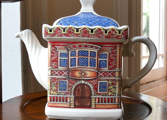 *送料無料* ヴィンテージ サドラー お家の形のティーポット エリザベス女王一世時代