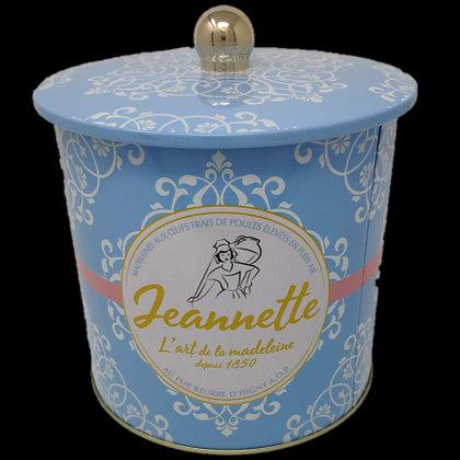 Assortiment de Madeleines Assorties Jeannette Boite Métal Bleue