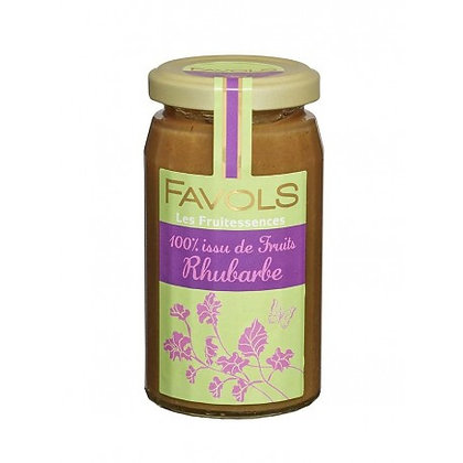 Confiture Rhubarbe 100% Fruits - Favols