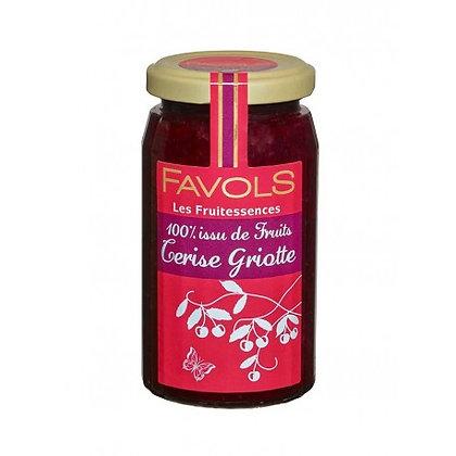 Confiture CERISE-GRIOTTE 100% Fruits - Favols