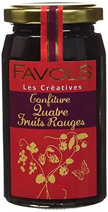 Confiture Quatre Fruits Rouges - Favols