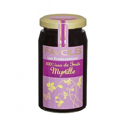 Confiture MYRTILLE 100% Fruits - Favols