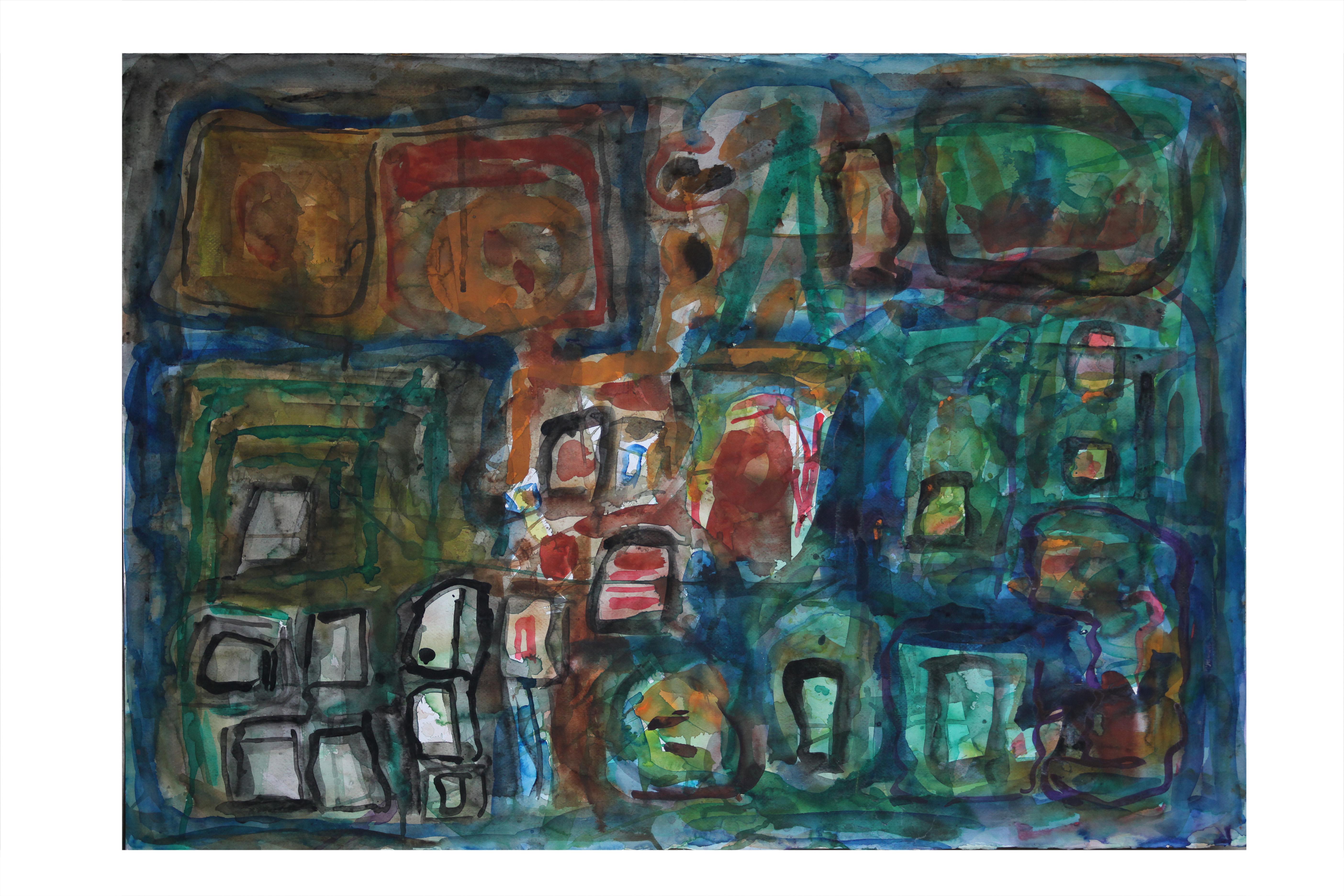 Watercolour on Paper. Slpash3