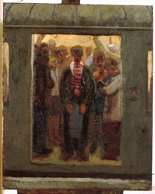 Oil on Canvas.Bank Station