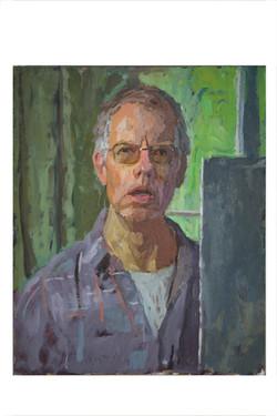 Self portrait midsummer with window_