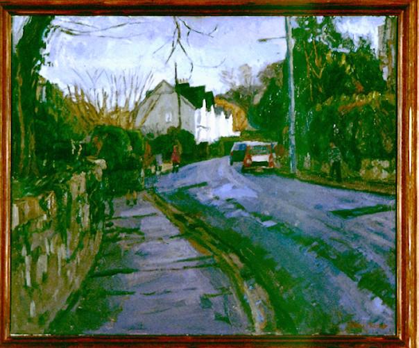Oil on Canvas. Station Road Okehampton