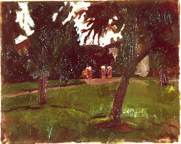 Oil on Canvas. Park Gates Victoria Park