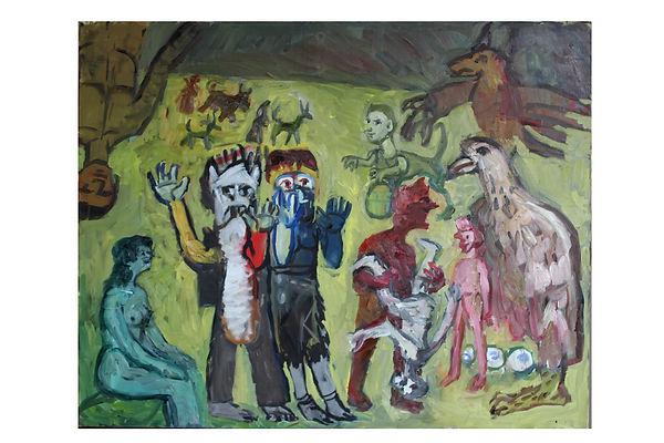 Oil on Canvas.60%22x46%22 Elderly relati