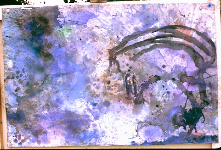 Watercolour on Paper. Splash2.
