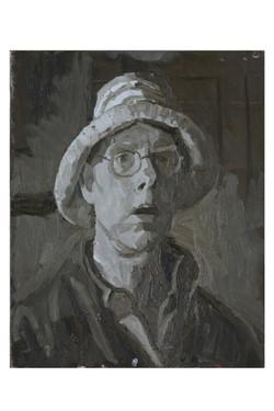 Self portrait with straw hat