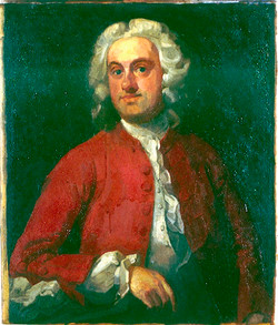 Copy of Hogarth's portrait of a Gentleman