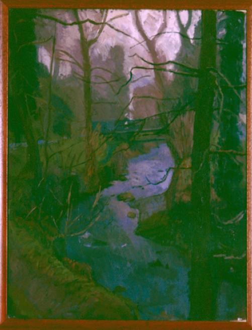 Oil on Canvas. River Okement Simmonds Park