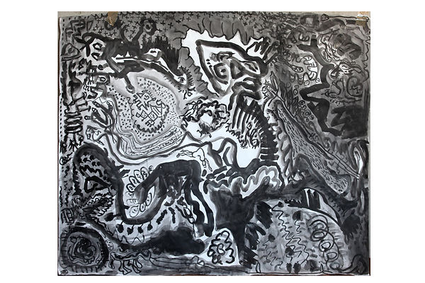 Indian ink on paper 60%22x 50%22 Embryon