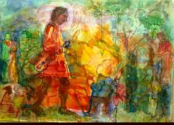 Watercolour on Paper. Orpheus.