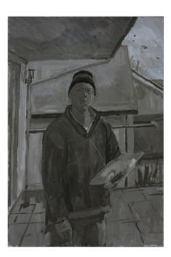 Self portrait on the terrace