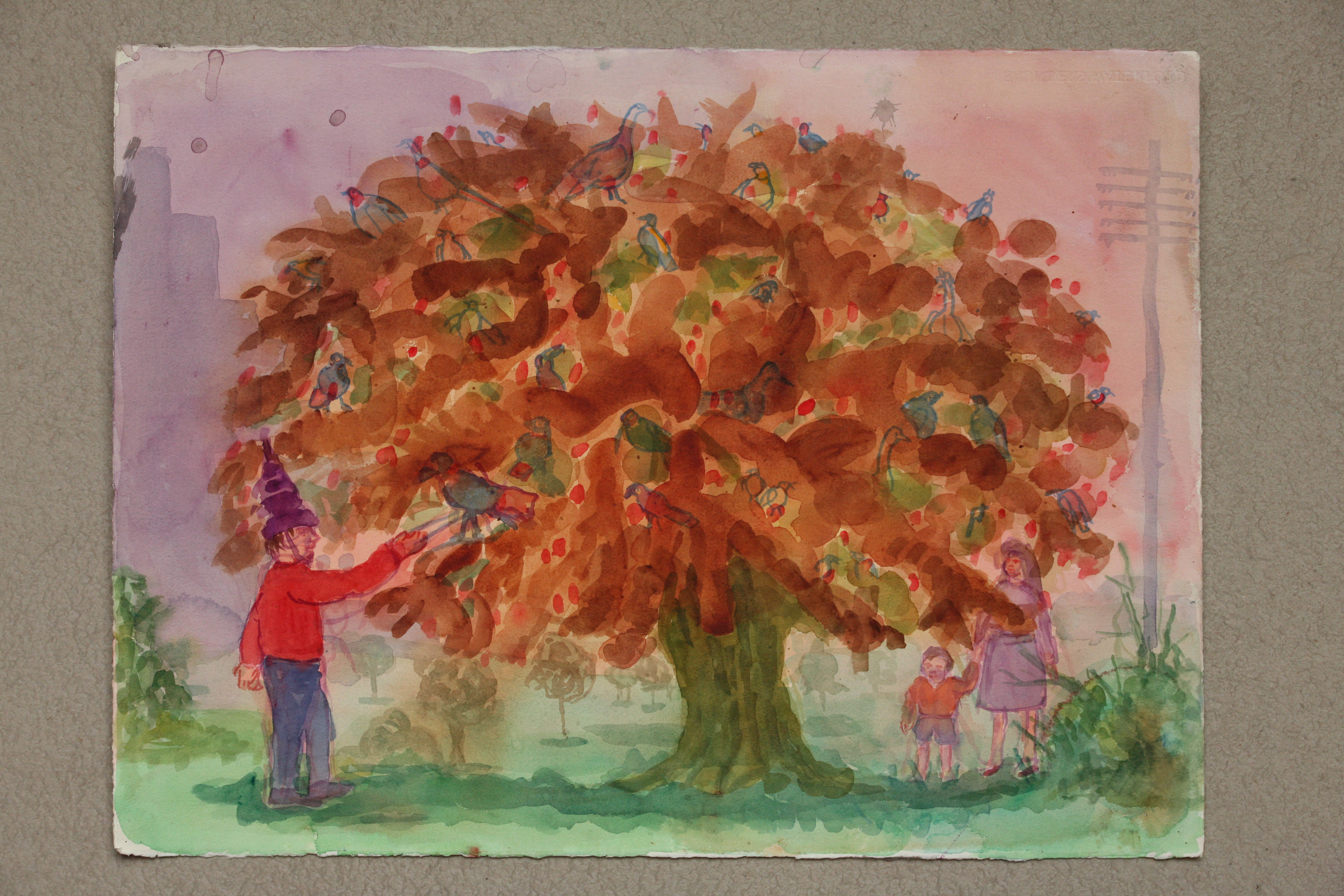 Watercolour on Paper. The Tree in the park
