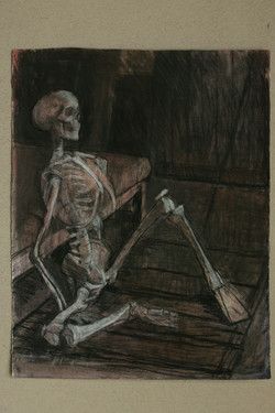 Seated skeleton 3