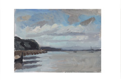 River Exe at Starcross,Afternoon summer_