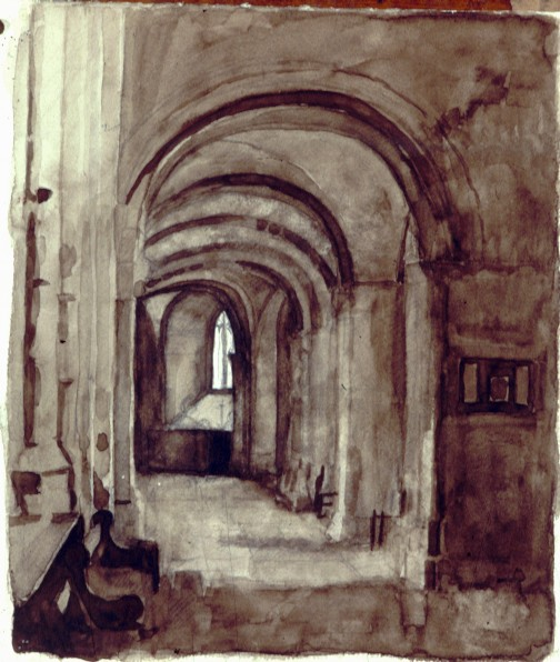 Watercolour on Paper. St Bartholemews church.