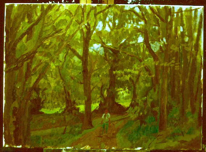 Oil on Canvas. Golf Club Woods.