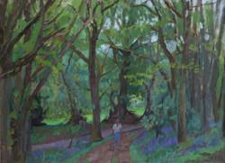 Oil on Canvas. Golf club woods