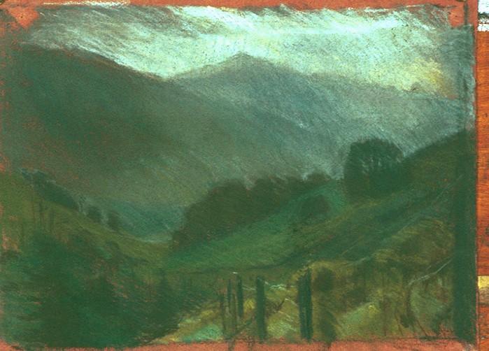 Pastel on Paper. Towards Ben Vorlich.