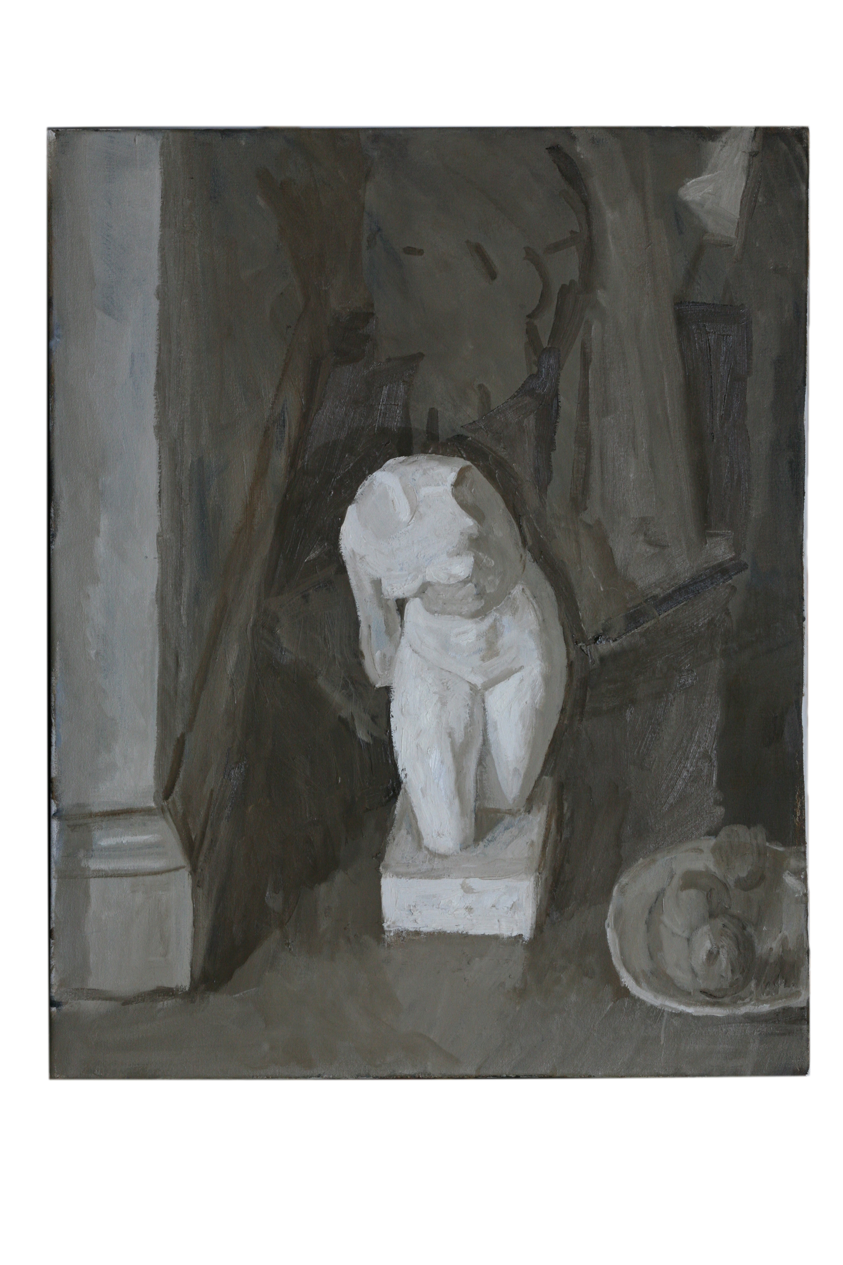 Oil on Canvas. Plaster Caste Still life