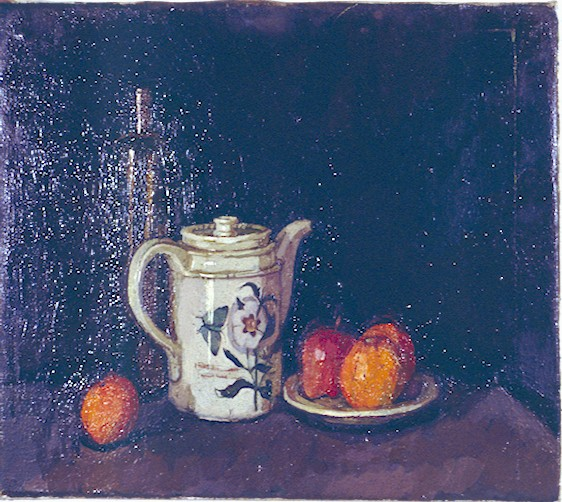 Still life of white jug