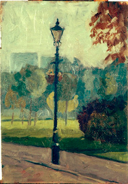 Lamp post, early morning,Victoria Park