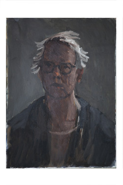 Self portrait ,below the north window_