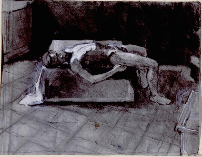 Charcoaland Chalk on Paper.Joviar
