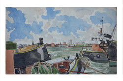 Boats on Mersey ,Liverpool