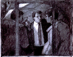 Charcoal on Paper.Old Boy Network