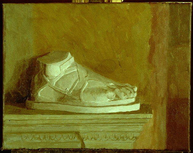 Oil on Canvas. Foot of Hermes
