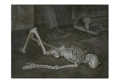 Reclining Skeleton