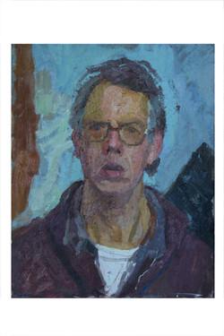 """Self Portrait 24""""x20"""" Oil on Board"""