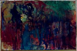 watercolour on Paper Darkening world