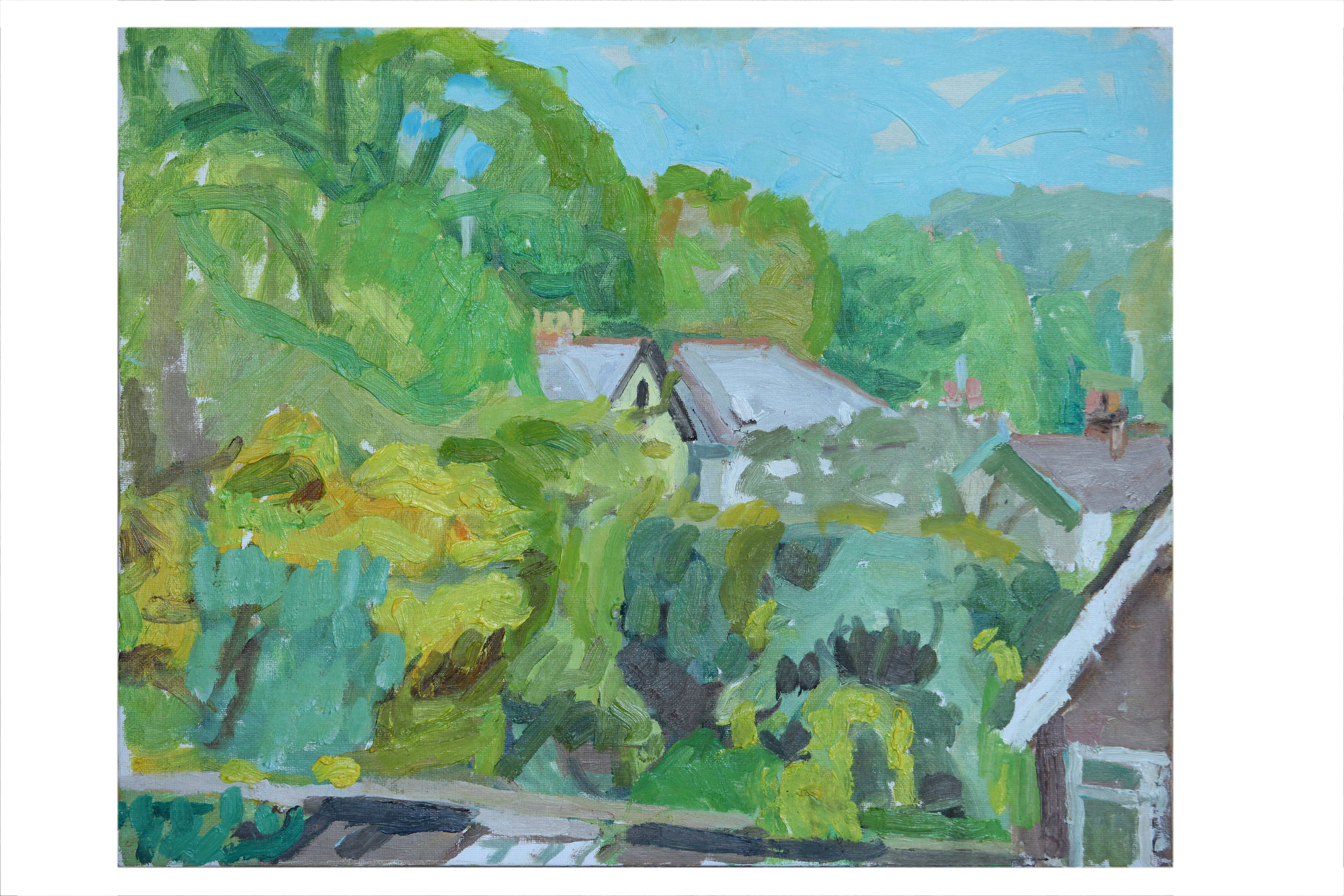 View from studio, spring