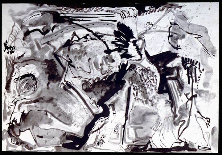 indian ink on paper.Splash 2
