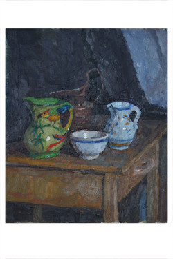Still-life with two jugs and bowl
