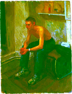 Oil on Canvas.David at Bridge Hous