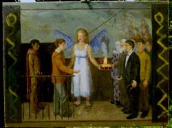 Oil on Canvas. Presentatation of diploma piece.
