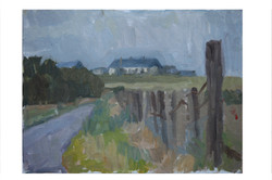 St Michel's Bungalow.late summer afternoon .Oil on Board