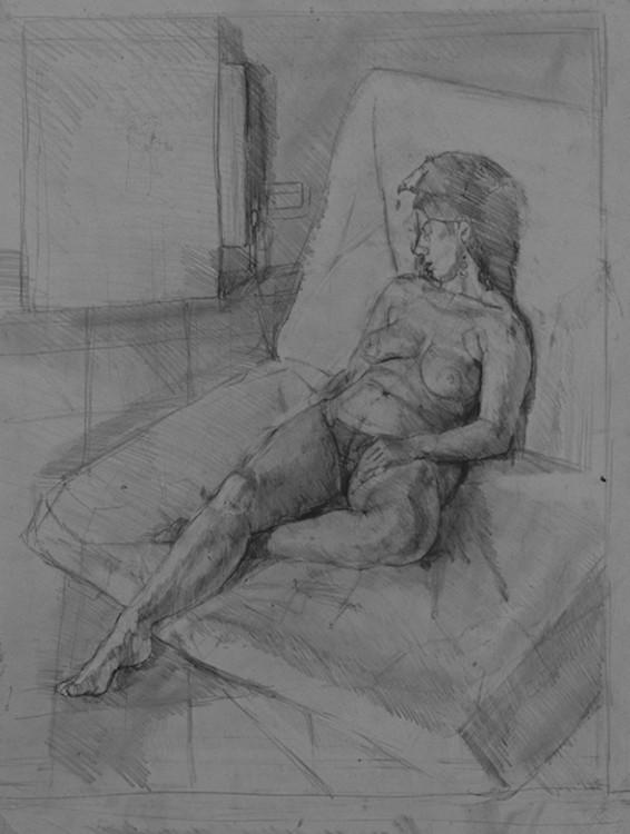 Pencil on Paper.Life drawing JoJo