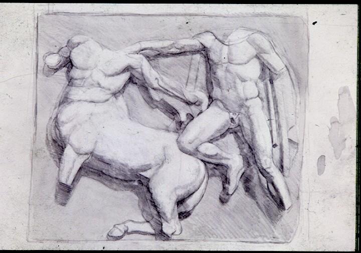 Pencil on Paper. Parthenon frieze