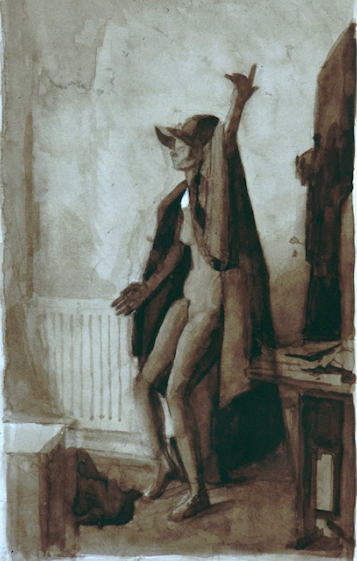 Watercolour on Paper. Lay figure