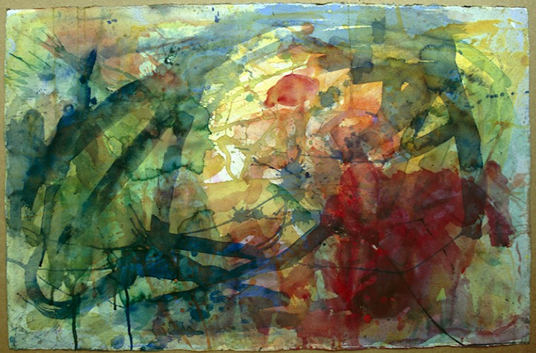 Abstract watercolour 100x69cm.